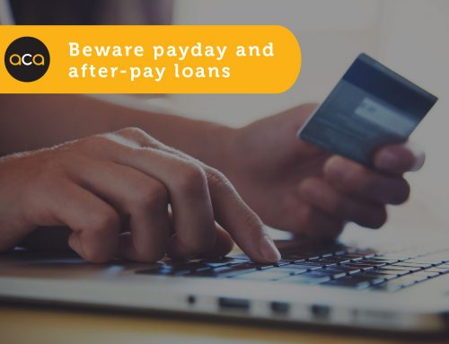 Beware payday and after pay loans
